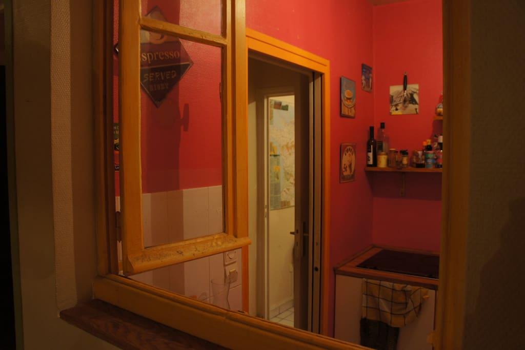 Kitchen inside window