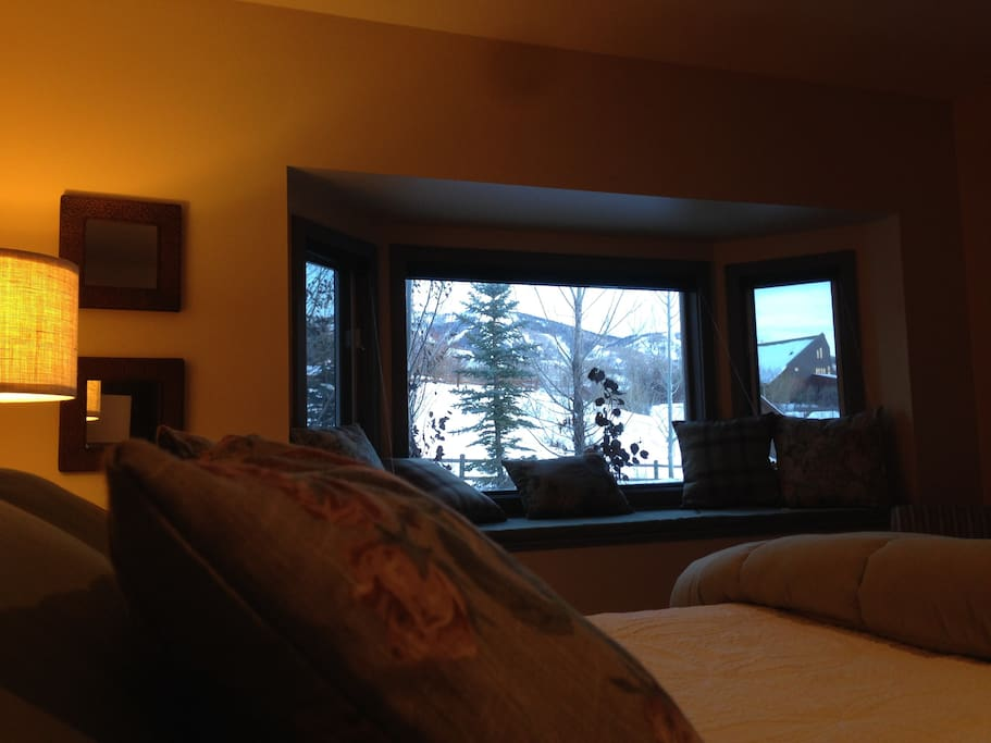Mountain view from King size bed