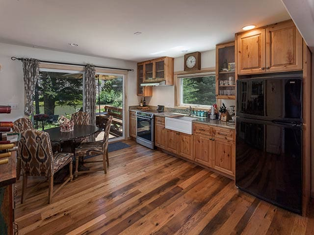 We love the farm sink, bosch stove/oven & hickory cabinets.