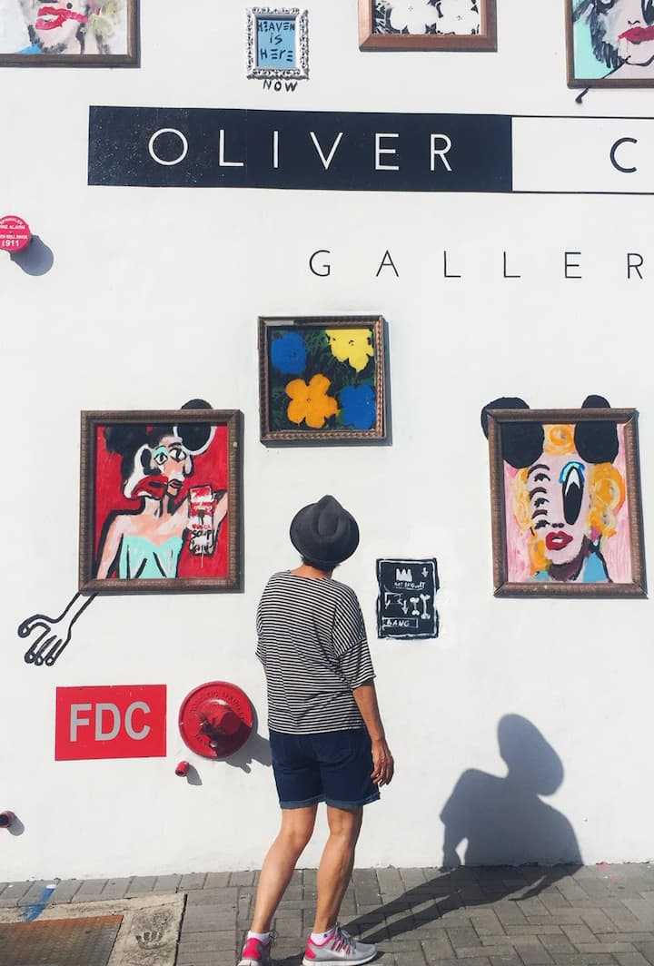 Lots of art galleries and cool spots!