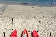 Kayak rentals at Lovers Point Beach