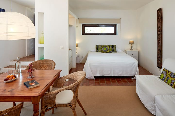 Suite jardim em bonito hotel rural