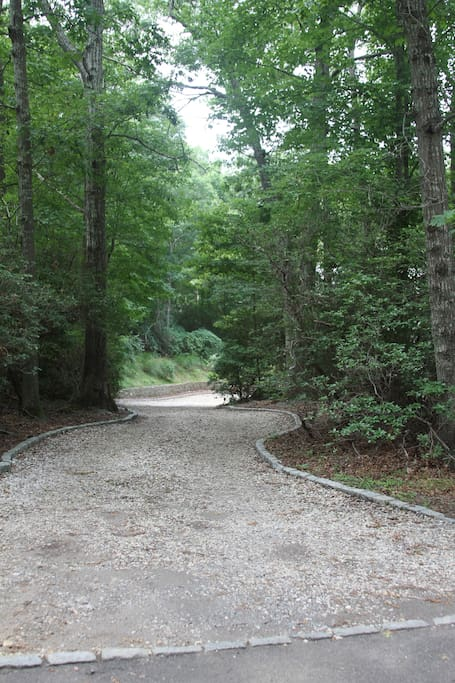 Private Driveway towards the house.
