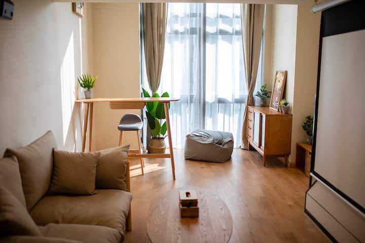 猫筑Aircat·华强北/燕南#复式日系清新公寓配大投影及开放式厨房