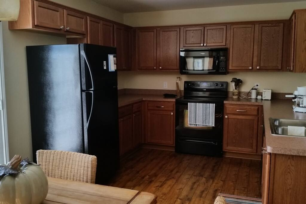 Large kitchen is also used by Owner but is downstairs for guest use at any time.