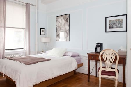 Private room in beautiful pre-war apartment with view of Hudson River & George Washington Bridge
