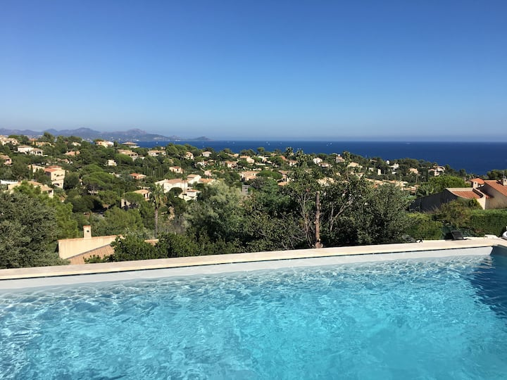 Villa 8 pers Aux Issambres Superb view Swin Pool