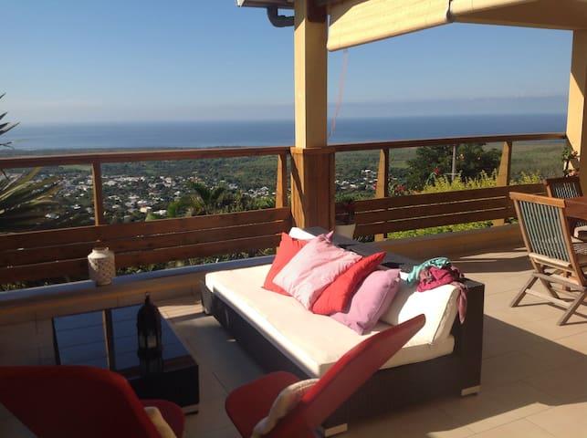 Maison avec vue océan imprenable - Etang-Salé les Hauts - Casa