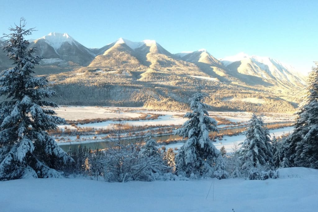 Hawkes Hill winter morning view.