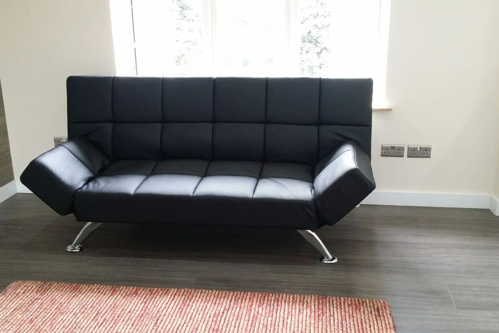One of two sofa beds which can be converted to sofa beds if needed