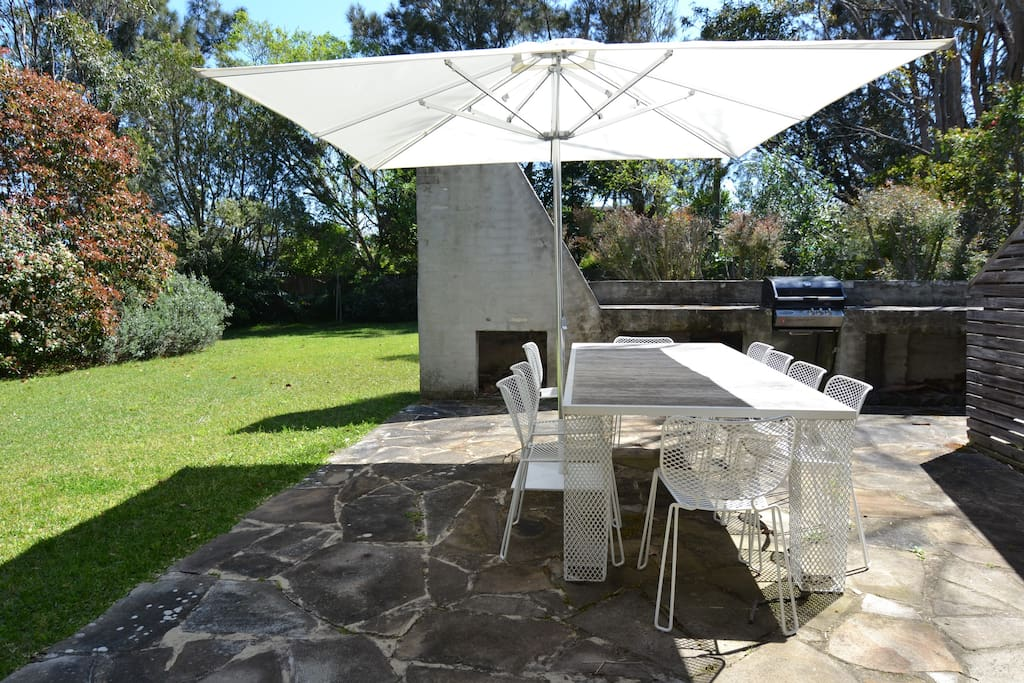 Alfresco dining with BBQ area.