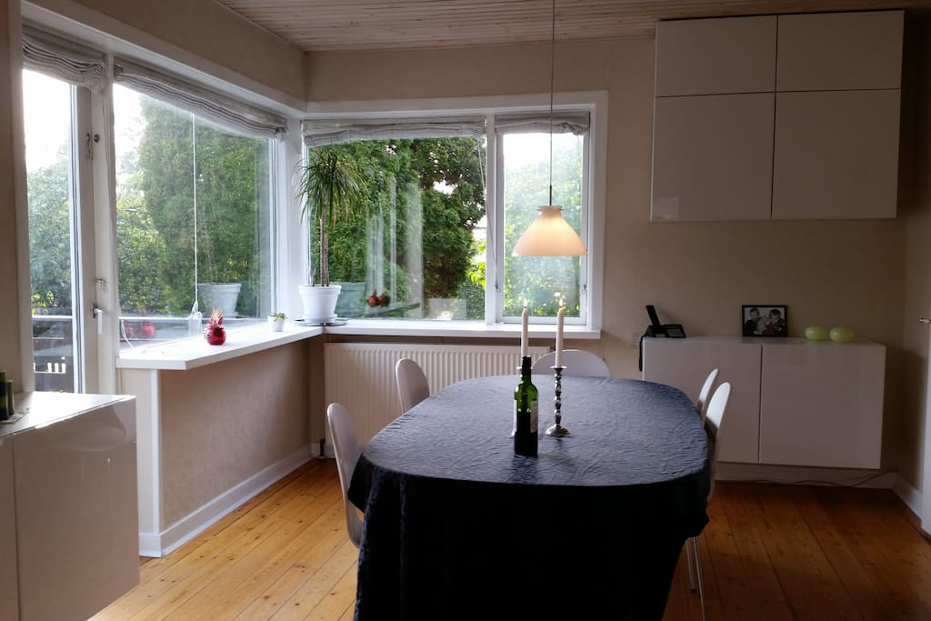 Dining room viewed from the kitchen