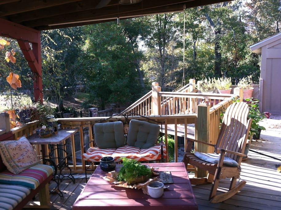 Front deck.