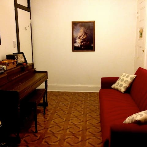 Skyline View Piano Room