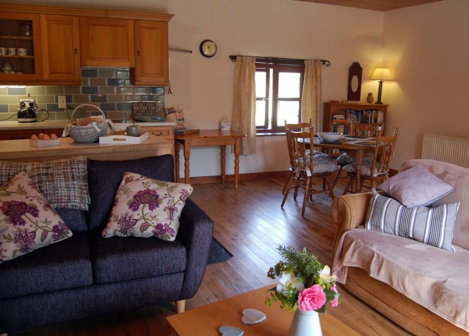 Great open plan lounge, kitchen and dining space.
