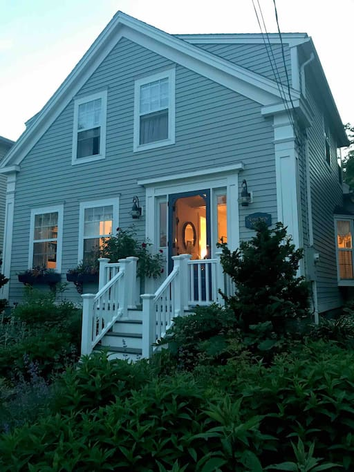 Cozy and welcoming front porch.