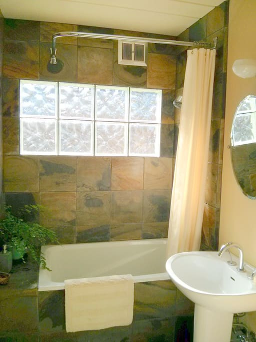 Private bath with shower.