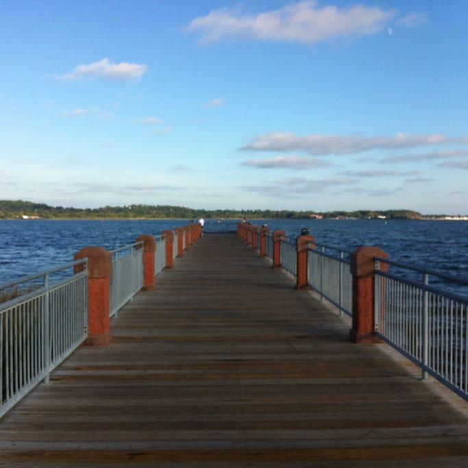 The local pier a short walk away.