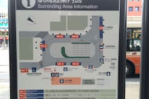 Ageo Station bus terminal map