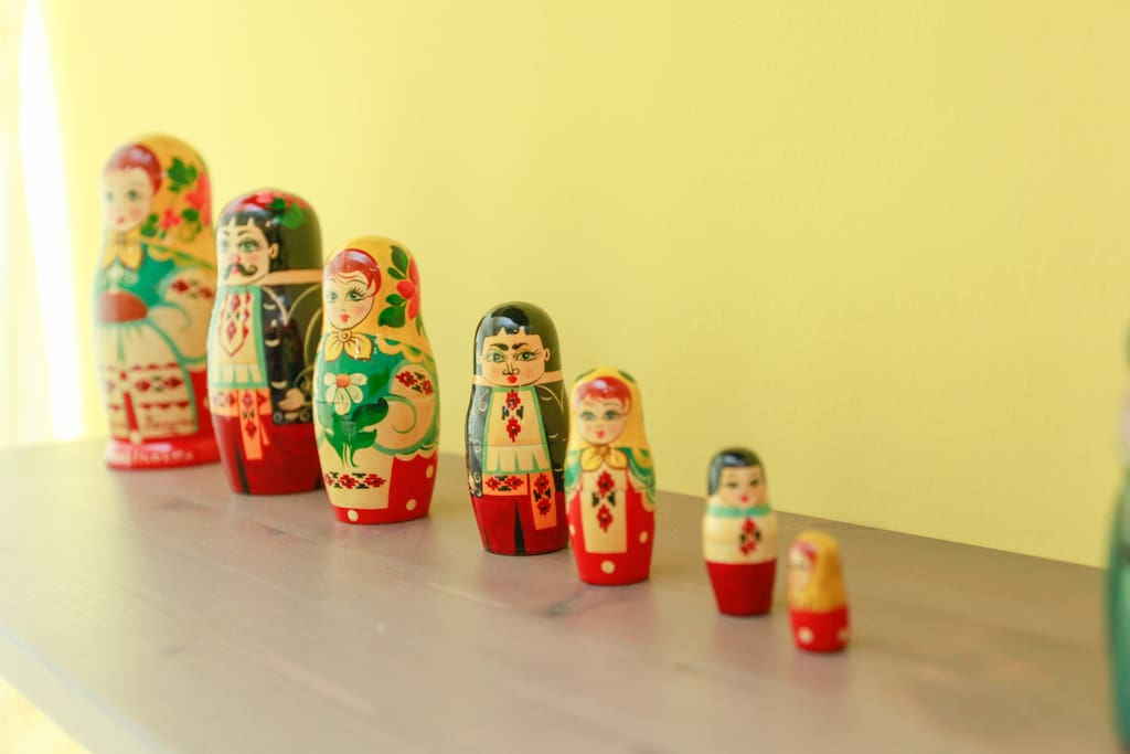 My Russian dolls from my yrs as a medical student in Ukraine