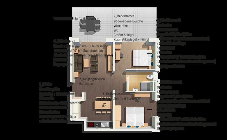 Exklusives, möbliertes 3 Zimmer Apartment.11