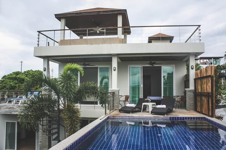 Holiday Sea View Pool Villa in Rawai, Phuket