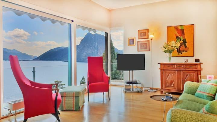 Villa con spettacolare vista lago (Castagnola)