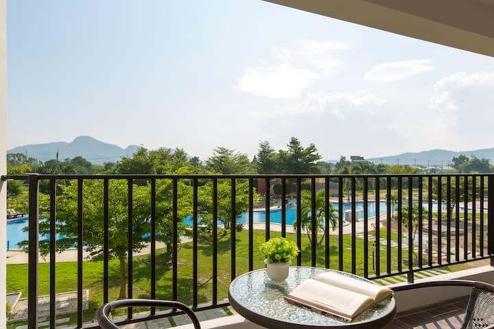 2 BDRM,Beautiful Garden & Pool View - Nong Kae - Pis