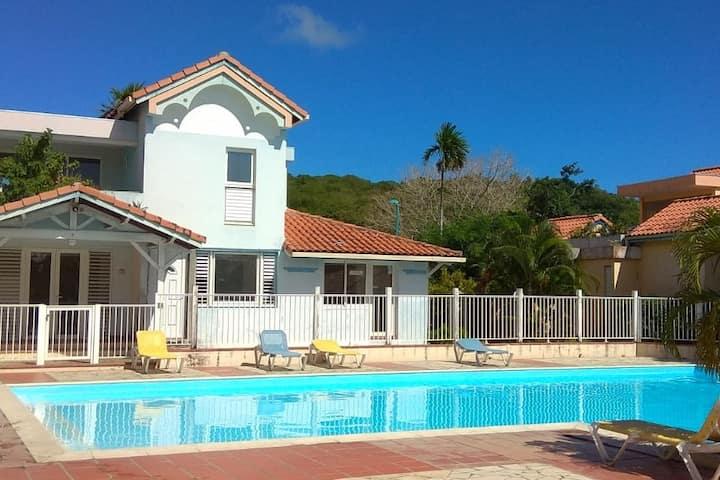 Martinique, Saint Anne avec Piscine plage du Sud