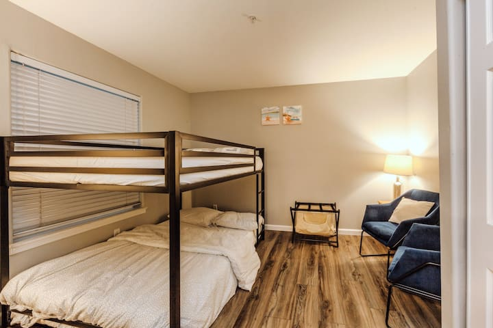 Bedroom 2: full over full bunk bed. Can accommodate up to 4