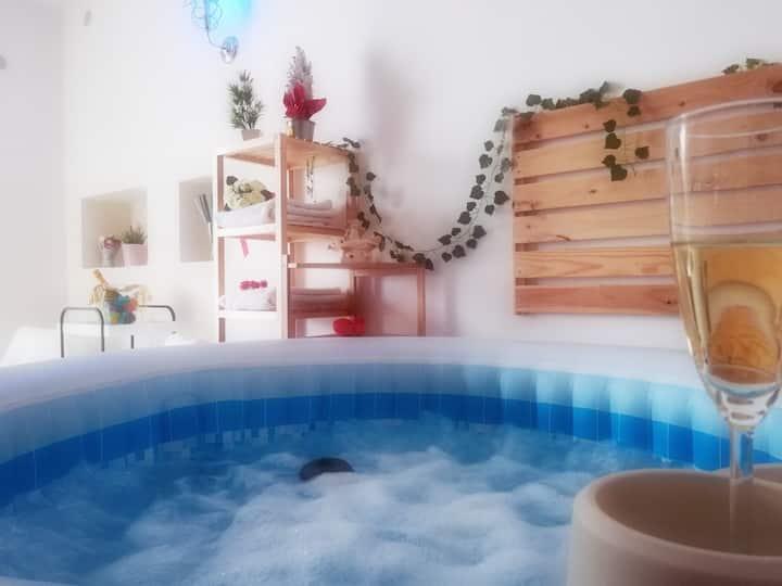 Camera spa con piscina idromassaggio