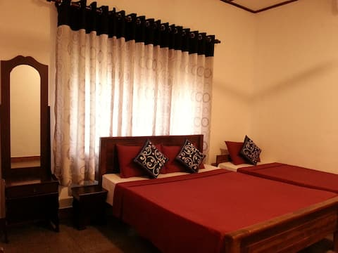 Triple Room with AC - Private Bathroom + Hot Water