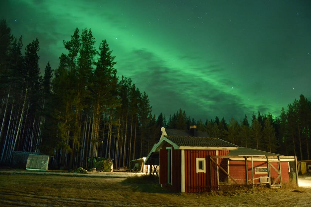Northern Lights seen from Pike Paradise Lodge