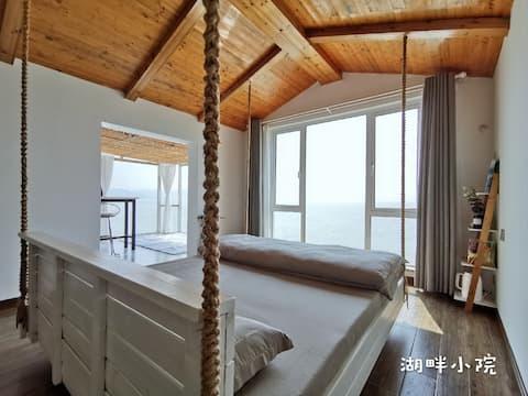 【湖畔小院】太湖渔港村湖景吊床房「枕在湖边,摇入梦乡~」