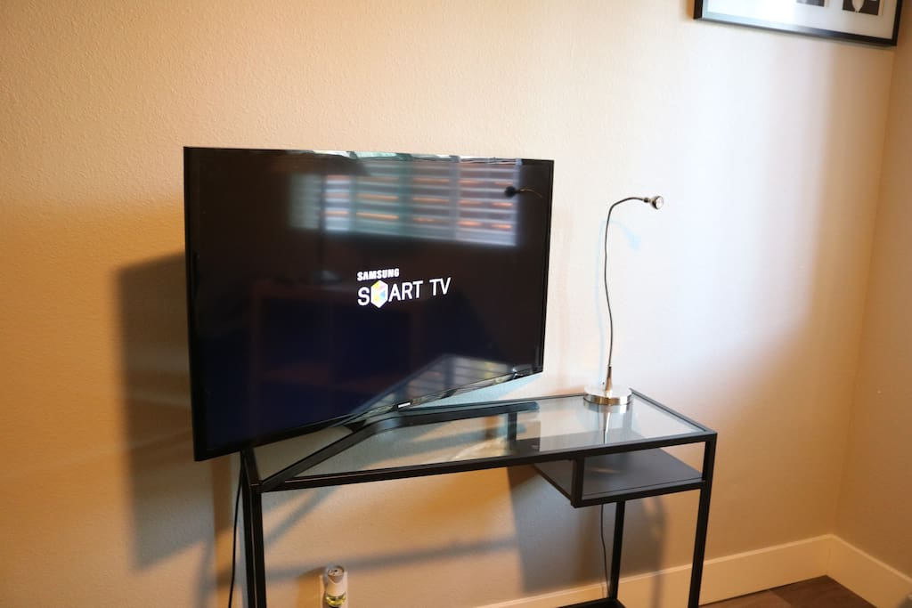 Smart TV you can login to netflix, hulu and more.
