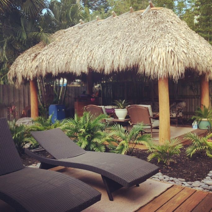 Naked Palms Tiki Hut..perfect space to chill and be yourself