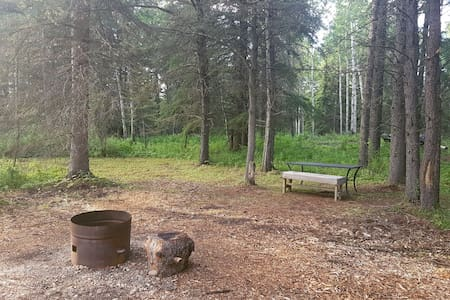 1 hour north of Edmonton, Campsite #1