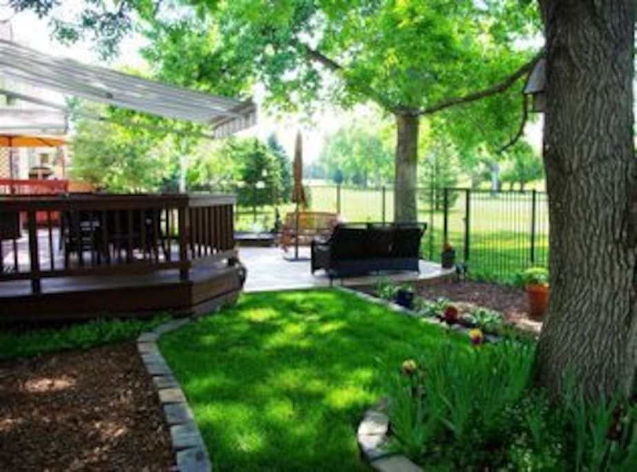 Backyard, with golf, pool, tennis, three lakes and access to Cherry Creek Reservoir.