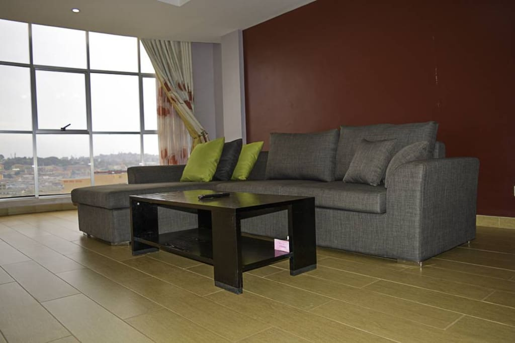 Comfy living room with a perfect view of Kampala