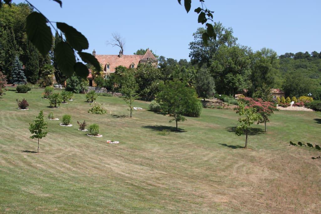 Vue partielle du parc coté sud.
