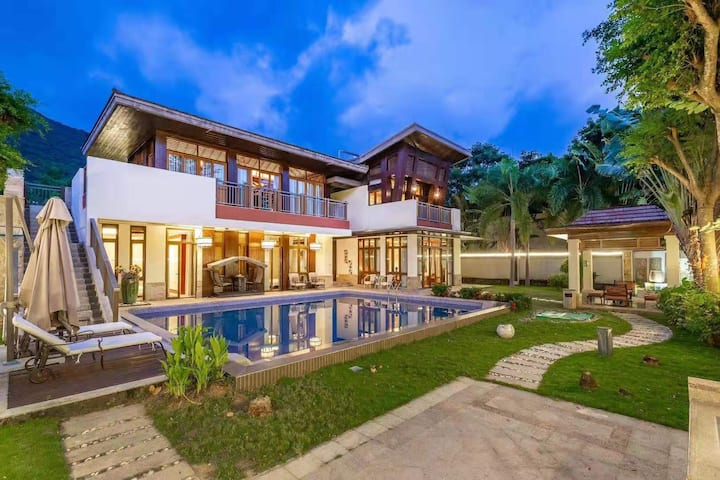 《免费三晚接机》亚龙湾轻奢五室五卫私家泳池花园独栋别墅