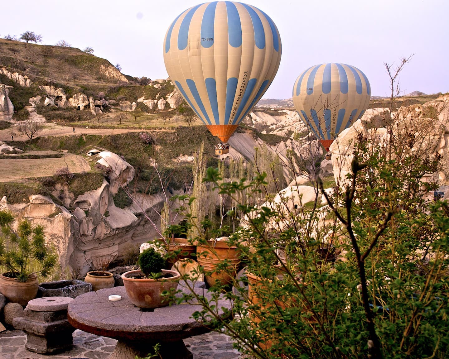 AirBnB in Turkey, Cappadocia: Cave house, character, and valley & balloon views!