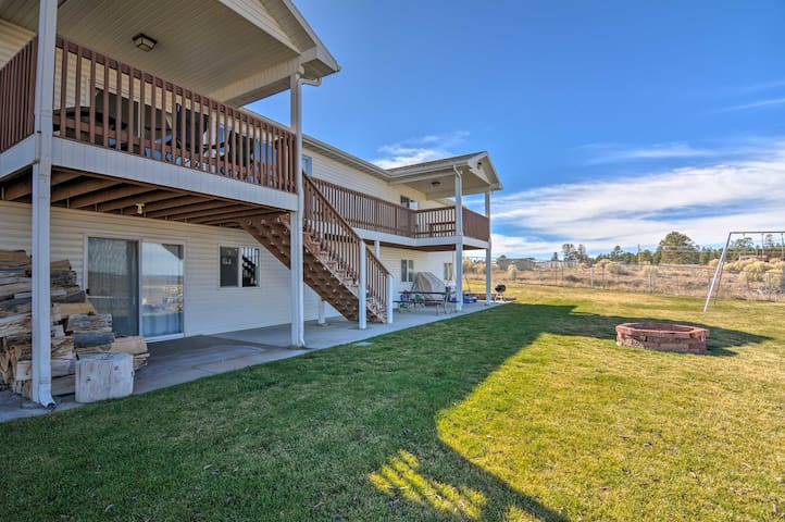 Spend countless hours on the spacious back deck, admiring panoramic views.