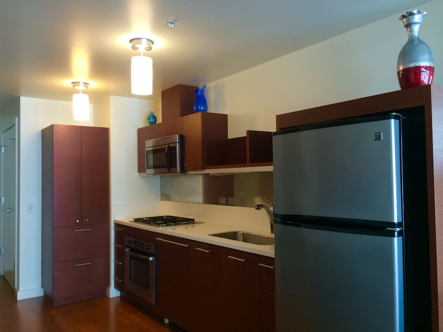 Well equipped kitchen with Bosch appliances