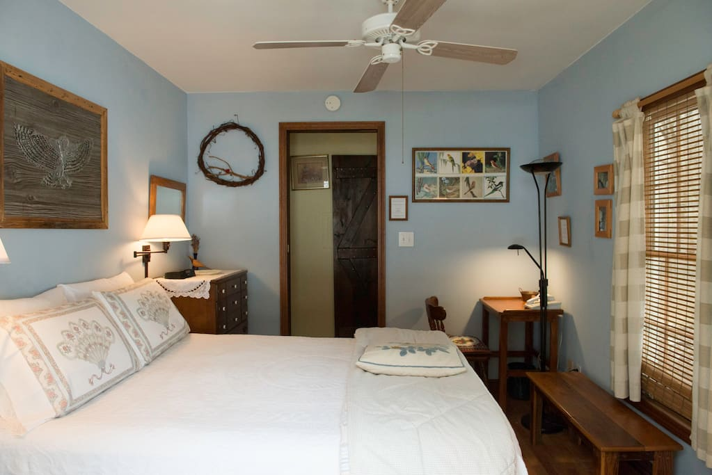 The Breeze room with queen bed and private entrance
