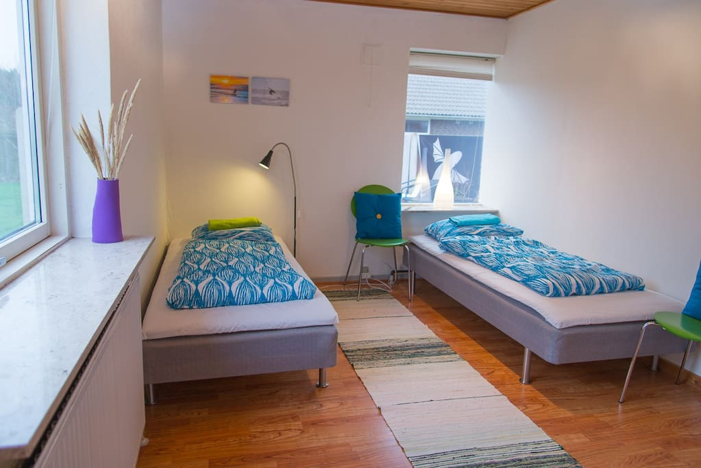 Room has bed for 2 persons and it's flexible to be done as double bed or twin bed as you wish.