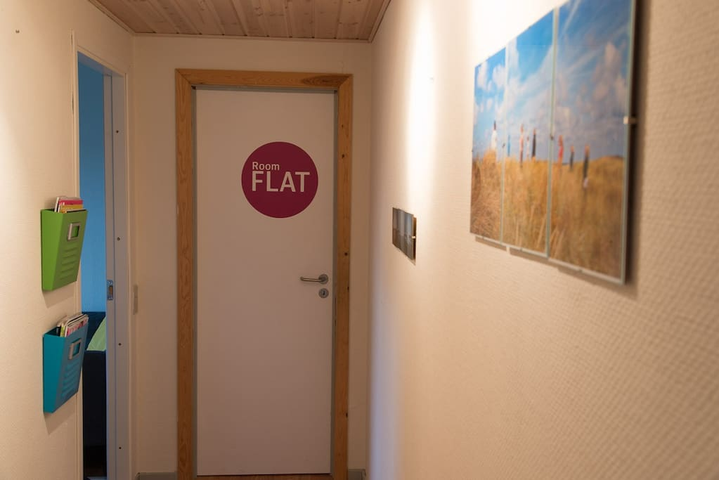 Room is called Flat. Next to the room you find cosy kitchenette.