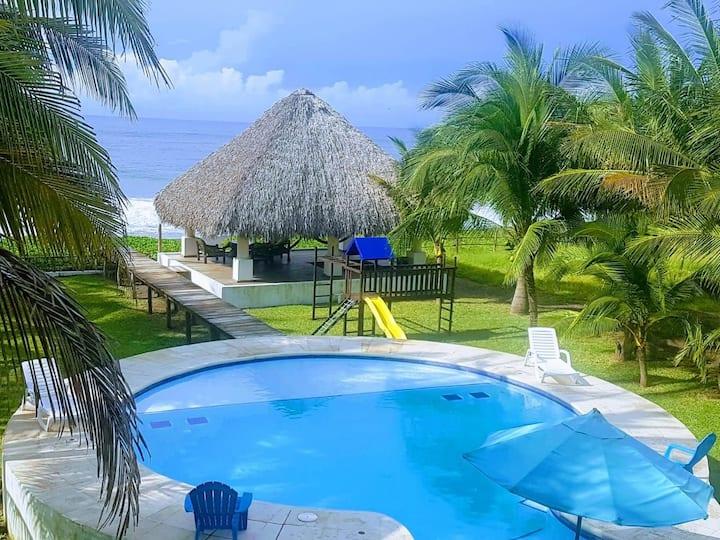 Monterrico Oceanfront Casa Playa Tortuga
