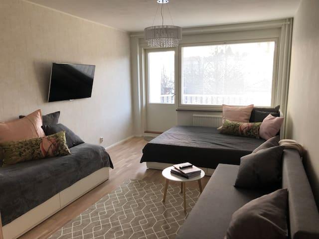 Roomy apt. in the heart of Tampere (sleeps 10)