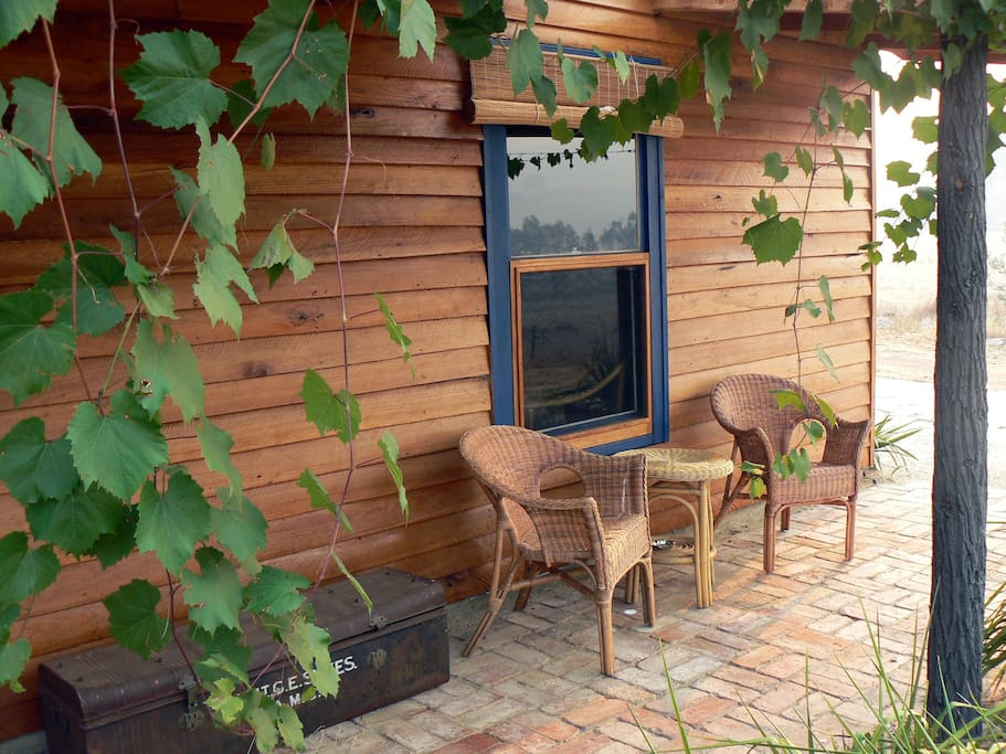 Relax on the verandah and enjoy the beautiful bushland views.